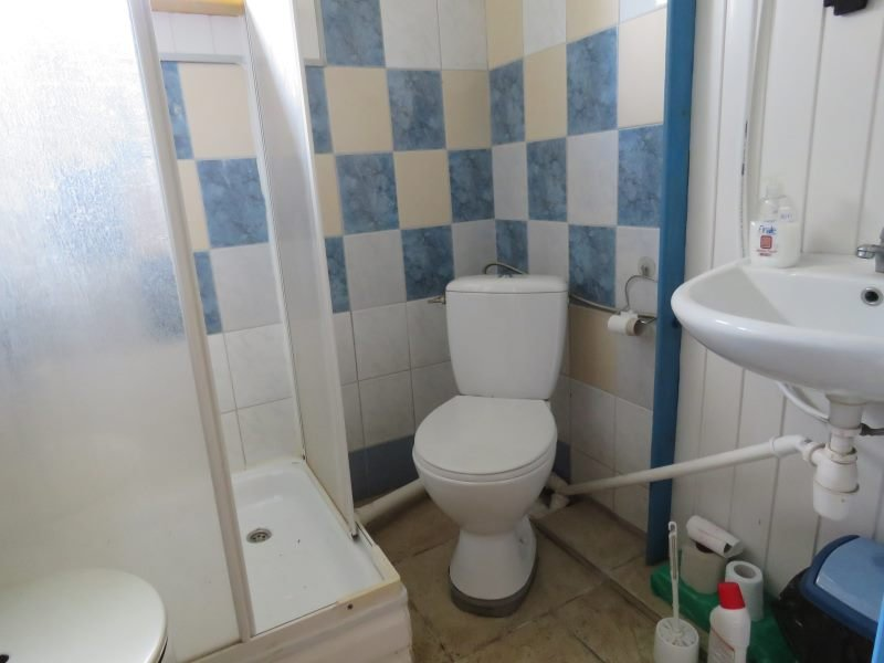 Sala kominkowa - łazienka